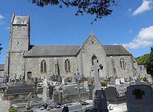 Vue méridionale de l'église Saint-Martin.