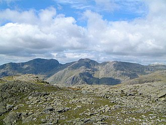 Crinkle Crags - Image: Scafells from Crinkle Crags
