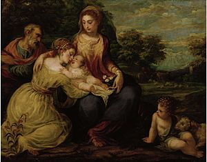 Andrea Schiavone - Holy Family with St Catherine, 1552, Vienna.