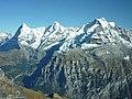Schiltorn - Pic Gloria à 2970m - Vue de l'Eiger, le Munch, la Jungfrau.JPG