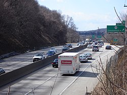 The Schuylkill Expressway near Conshohocken, close to the interchange with Interstate 476.
