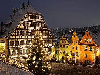 Schwäbisch Hall - Marktplatz in Christmas time