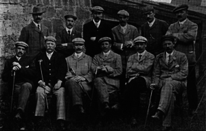 Willie Park Jr. - A group photo of Scotland's 1903 international golf team. Park is standing in the back row, second from the right. They defeated the English team that year.