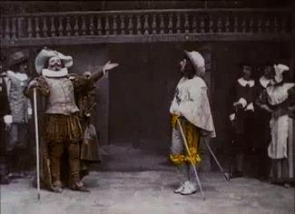 Screenshot Cyrano de Bergerac (short 1900)
