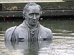 Sculpture of Hans Christian Andersen in odense harbor 2.jpg