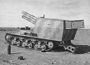 SdKfz 135-1 howitzer in Libya 1943