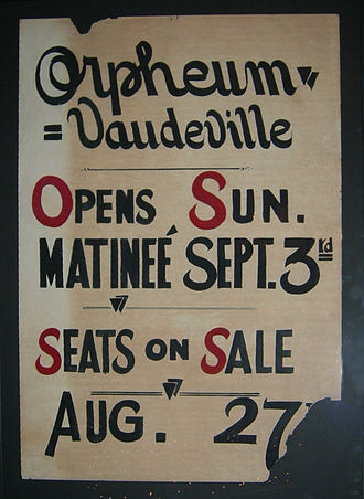 John Considine (impresario) - A poster for a post-1916 Orpheum program at the Moore Theatre.