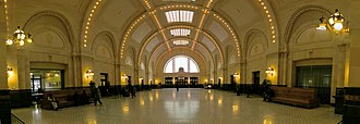 Union Station (Seattle) - Interior, as seen from the front entrance