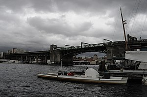 University Bridge (Seattle) - Image: Seattle University Bridge from behind Pocock Center