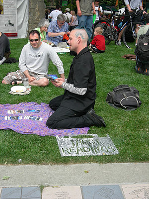 Tarot reader, Northwest Folklife Festival, Sea...