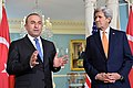 Secretary Kerry Listens as Turkish Foreign Minister Cavusoglu Addresses Reporters in Washington (25494369794).jpg