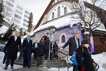 Secretary Kerry Walks With Senior Adviser Thorne in Downtown Davos Between Meetings at the World Economic Forum (24541614305).jpg
