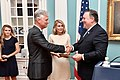 Secretary Pompeo Officiates the Swearing-in Ceremony for Robert C. O'Brien as Special Presidential Envoy for Hostage Affairs (43464145472).jpg