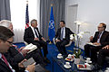 Secretary of Defense Chuck Hagel, third from left, meets with NATO Secretary General Anders Fogh Rasmussen, second from right, and NATO Deputy Secretary General Ambassador Alexander Vershbow, right, at NATO hea 130604-D-BW835-095.jpg