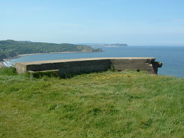 Section post (partial), Cayton Bay (rear).JPG