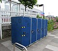 Secure bicycle storage on Redruth railway station (geograph 5007003).jpg