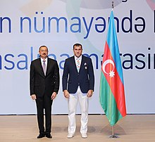 Seeing-off ceremony for Azerbaijani sportsmen to represent the country at the London 2012 Summer Olympic Games 5.jpg