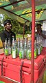 Seller of traditional 'soda' drinks at Saligao, Goa in India.jpg
