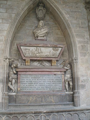 Jean Thierry du Mont, comte de Gages - Tomb of the Count of Gages in the Pamplona cathedral.