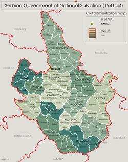 Serbia 1941 44 Map