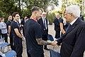Sergio Mattarella meets Italy national football team and Matteo Berrettini (12 July 2021) 17.jpg