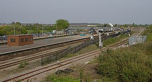 Severn Tunnel Junction railway station - Severn Tunnel Junction station before the restoration of a fourth line and platform in January 2010