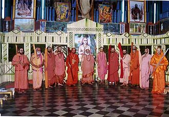 Monasticism - A meeting of various Shankaracharya - heads of monasteries called mathas in the Advaita Vedanta tradition. The title derives from Adi Shankara, an 8th-century CE reformer of Hinduism.