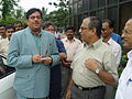 Shatrughan Sinha and Tapan Kumar Ganguly - Maritime Centre Inauguration - Science City - Kolkata 2003-10-17 00431.JPG