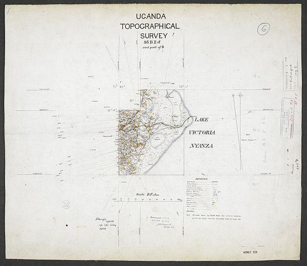 600px sheet south a 36 b   war office ledger.uganda topographical survey. %28woos 13 7 6%29