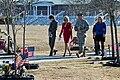 Sheila Casey, Jill Biden, Maj. Gen. Tony Cucolo and his wife Ginger Cucolo visit the Warriors Walk on Fort Stewart, Ga., Feb. 14, 2011.jpg