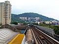 Shilin Street and Ming Chuan University View from MRT Shilin Station Platform 20090822.jpg