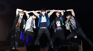 "Shinee - Shinee performs ""Sherlock"" at the Special Stage Expo 2012."