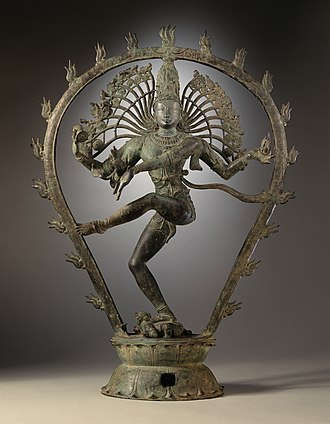 Hindu mythological wars - 11th-century statue of Shiva performing the dance of destruction.