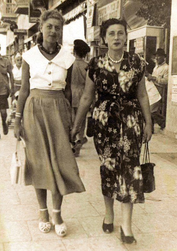 Shulamit Aloni with her mother