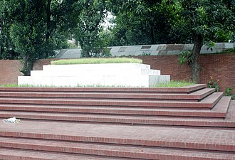 Kazi Nazrul Islam - Nazrul is buried on the grounds of the Central Mosque of Dhaka University