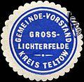 Siegelmarke Gemeinde - Vorstand Gross - Lichterfelde - Kreis Teltow W0224349.jpg