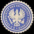 Siegelmarke K.P. Sekretariat der Universität Göttingen W0301049.jpg