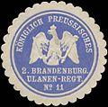 Siegelmarke K.Pr. 2. Brandenburgisches Ulanen-Regiment No. 11 W0329098.jpg