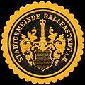 Siegelmarke Stadtgemeinde Ballenstedt am Harz W0237863.jpg