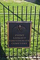 Sign - federal Confederate Cemetery Memorial - Point Lookout Maryland - 2012-01-15.jpg