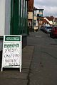 Sign Outside Newsagents Chobham Village Surrey UK.jpg