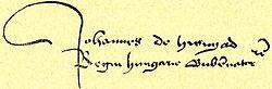 Hunyadi János aláírása