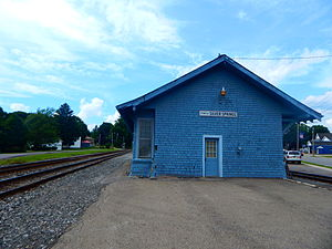 The former Erie Railroad station in Silver Springs in June 2015.