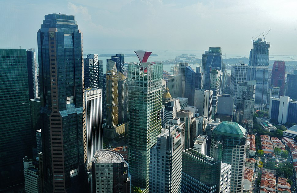 Singapore Central Business District viewed from UOB Plaza 2