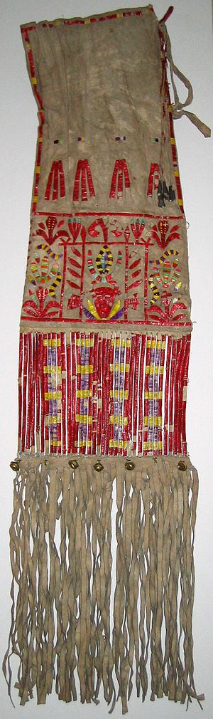 Pipe bag - Image: Sioux Quilled Tobacco Bag