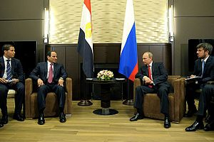 Egypt–Russia relations -  Vladimir Putin held talks in Sochi with President of Egypt Abdel Fattah al-Sisi.