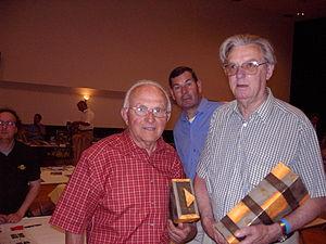 Jan Nolten - Jan Nolten (right) with Sjefke Janssen in 2003