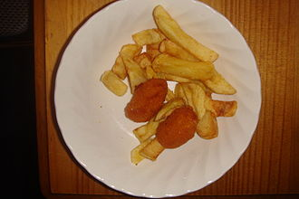 Scampi - British scampi with chips