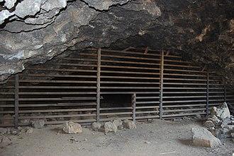 Skeleton Cave - Bat gate at the entrance of Skeleton Cave