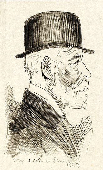 State Library of New South Wales - Sketch of D S Mitchell, detail from L. Lindsay etching of W. Syer sketch, State Library NSW